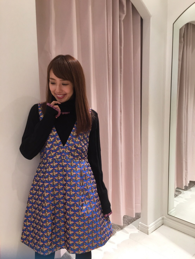 【selva secreta】HONEY BEE JUMPER DRESS(blue)