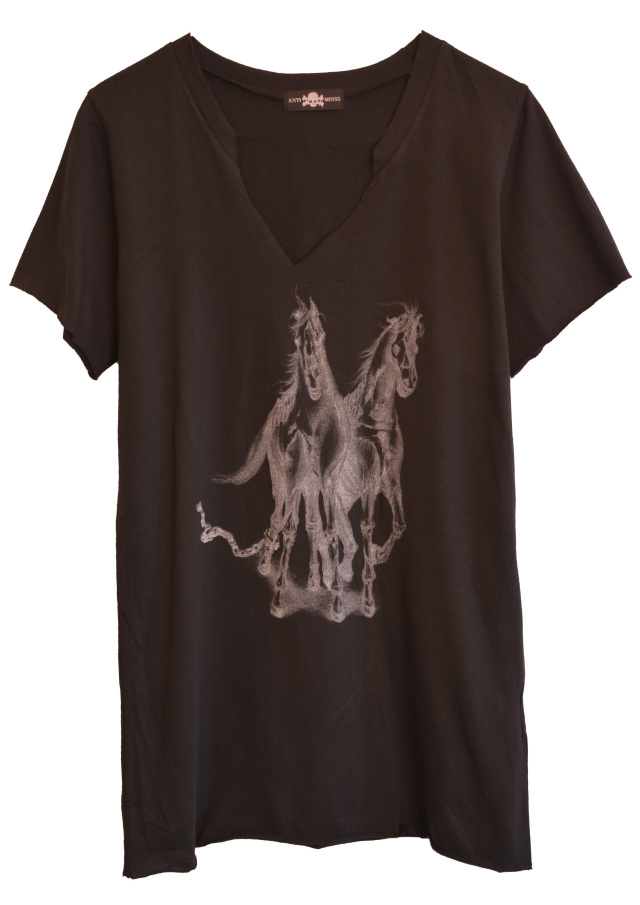 【ANTIMINSS】HORSE T-SHIRT (BLACK)