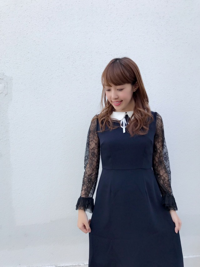 【SALE】【selva secreta】LACE FRENCH DRESS (navy)