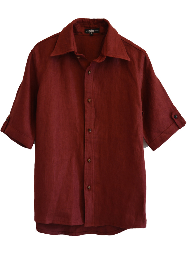 【ANTIMINSS】 RED HEMP SHIRT