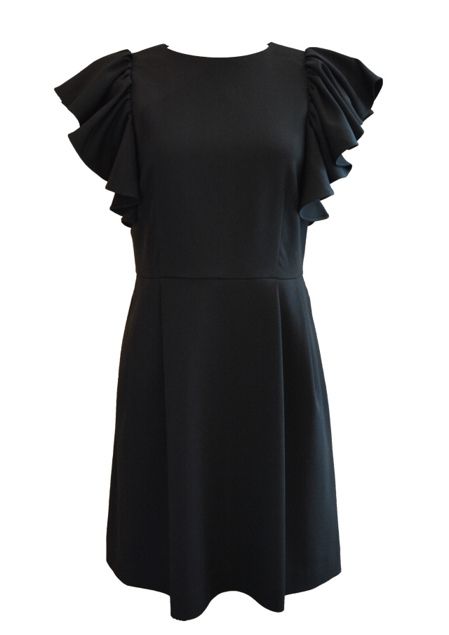 【selva secreta】ARM FRILL DRESS(black)