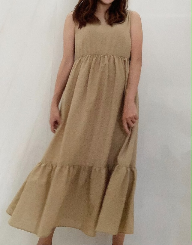 【selva secreta】Fluffy DRESS(beige)