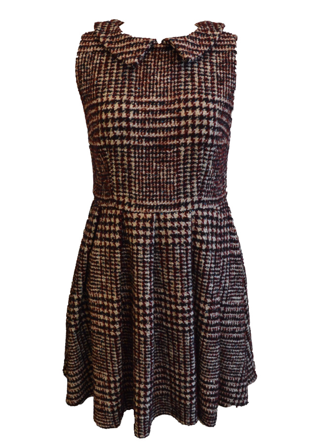 【selva secreta】TWEED DRESS(mix-red)