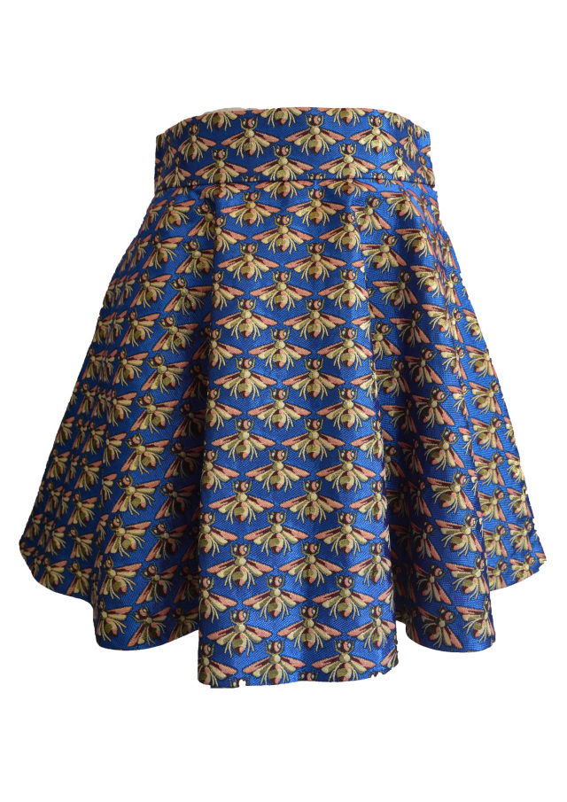 【selva secreta】HONEY BEE SKIRT(blue)