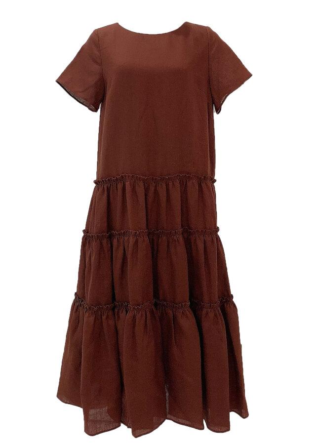 【selva secreta】LINEN DRESS(brown)