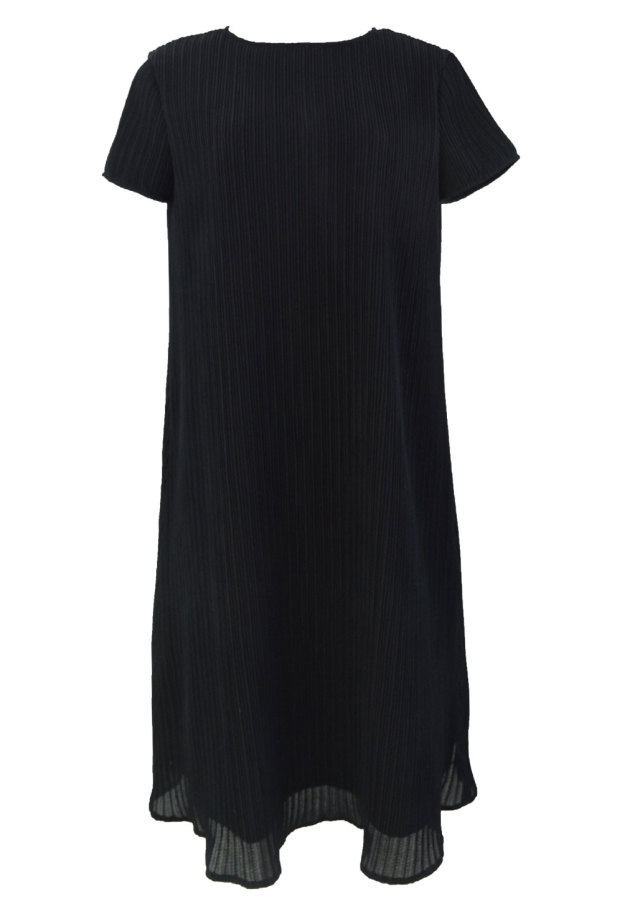 【selva secreta】A line DRESS(short-sleeve-black)