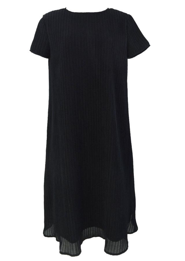 【selva secreta】A line DRESS(short-sleeve-black)