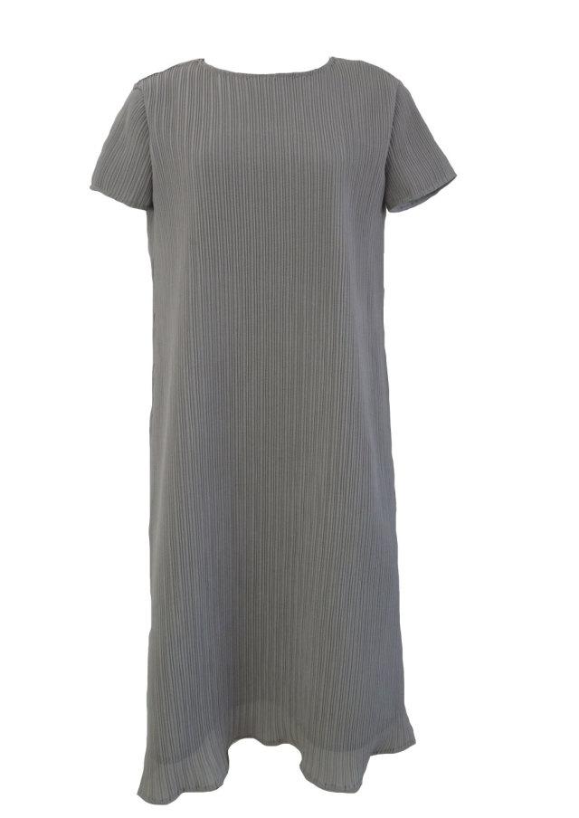 【selva secreta】A line DRESS(short-sleeve-gray)