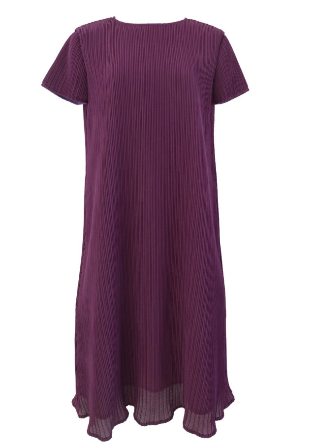【selva secreta】A line DRESS(short-sleeve-purple)