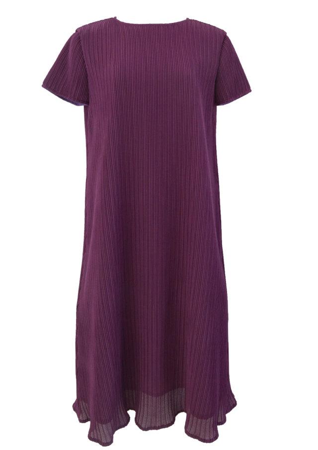 【selva secreta】A line DRESS(short-sleeve-purple)