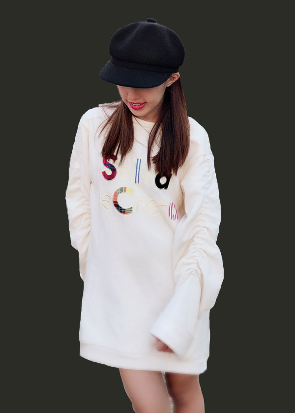 【selva secreta】applique sweat(white)