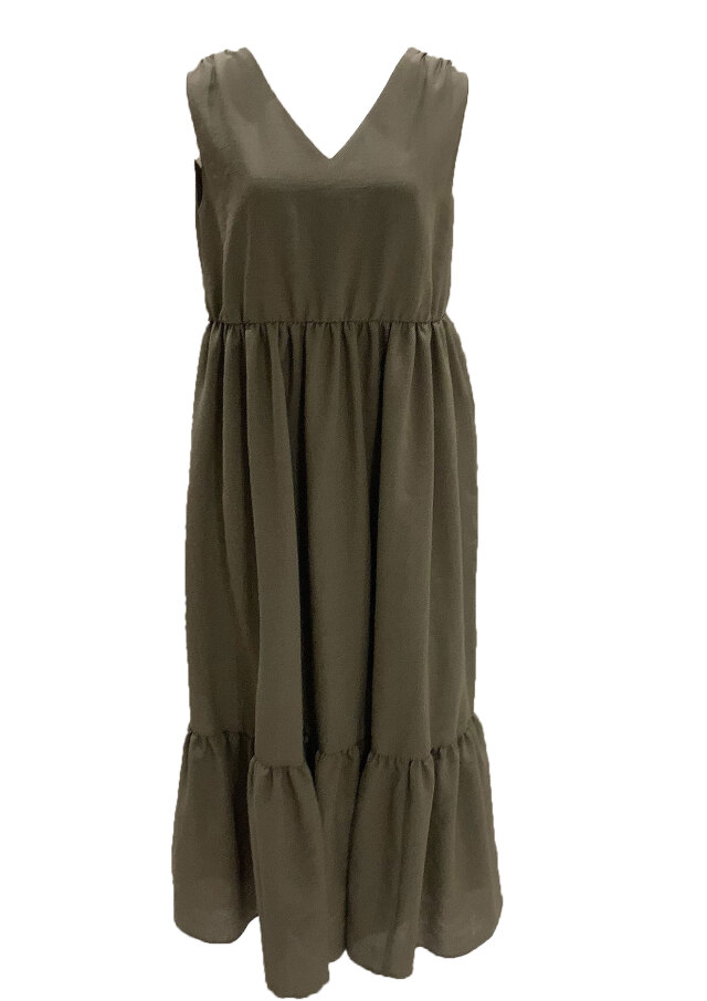 【selva secreta】Fluffy DRESS(khaki)