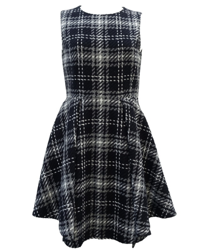 【selva secreta】WOOL CHECK DRESS(black)