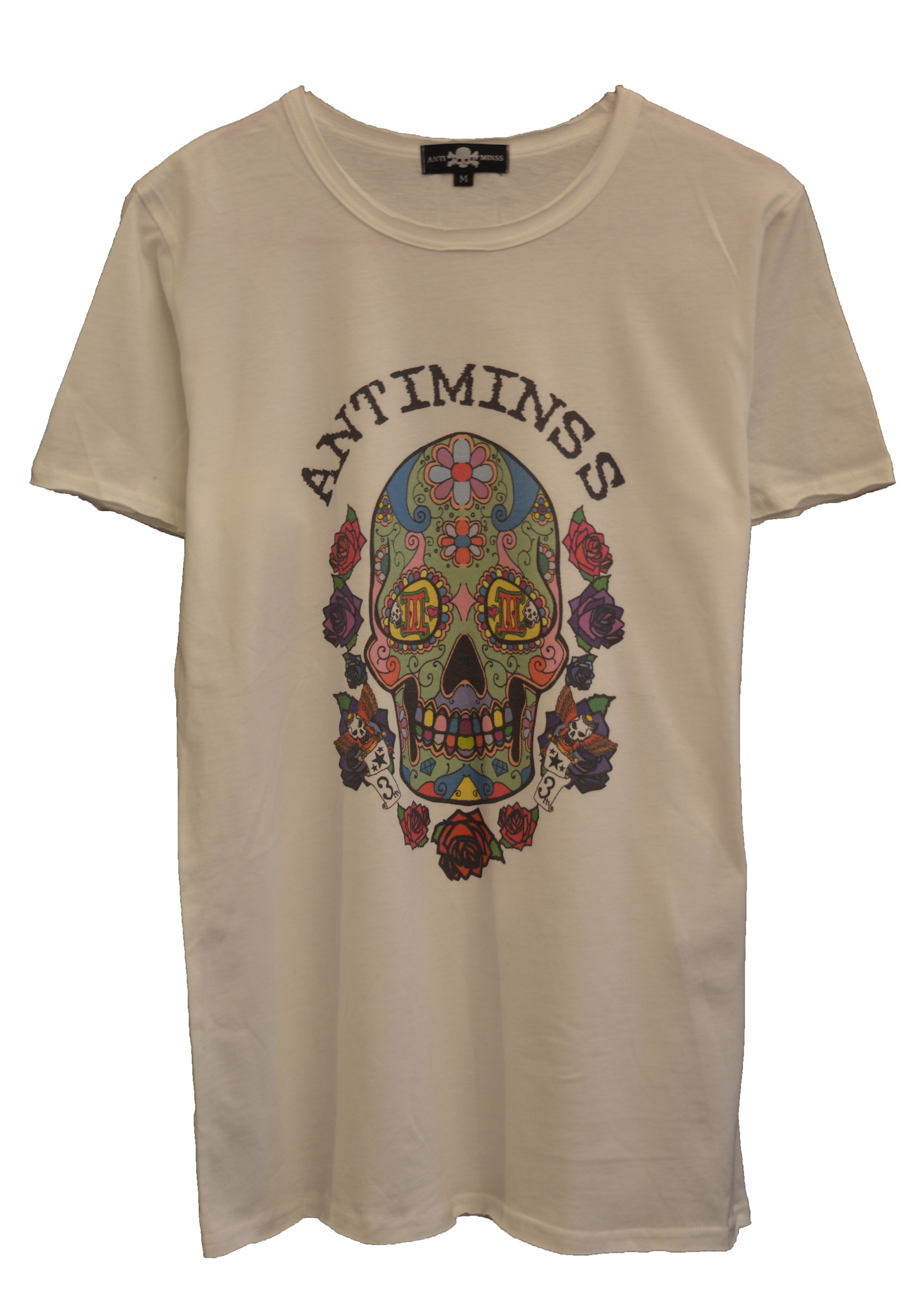 【ANTIMINSS】MEXICAN SKULL T-SHIRT (COLOR)