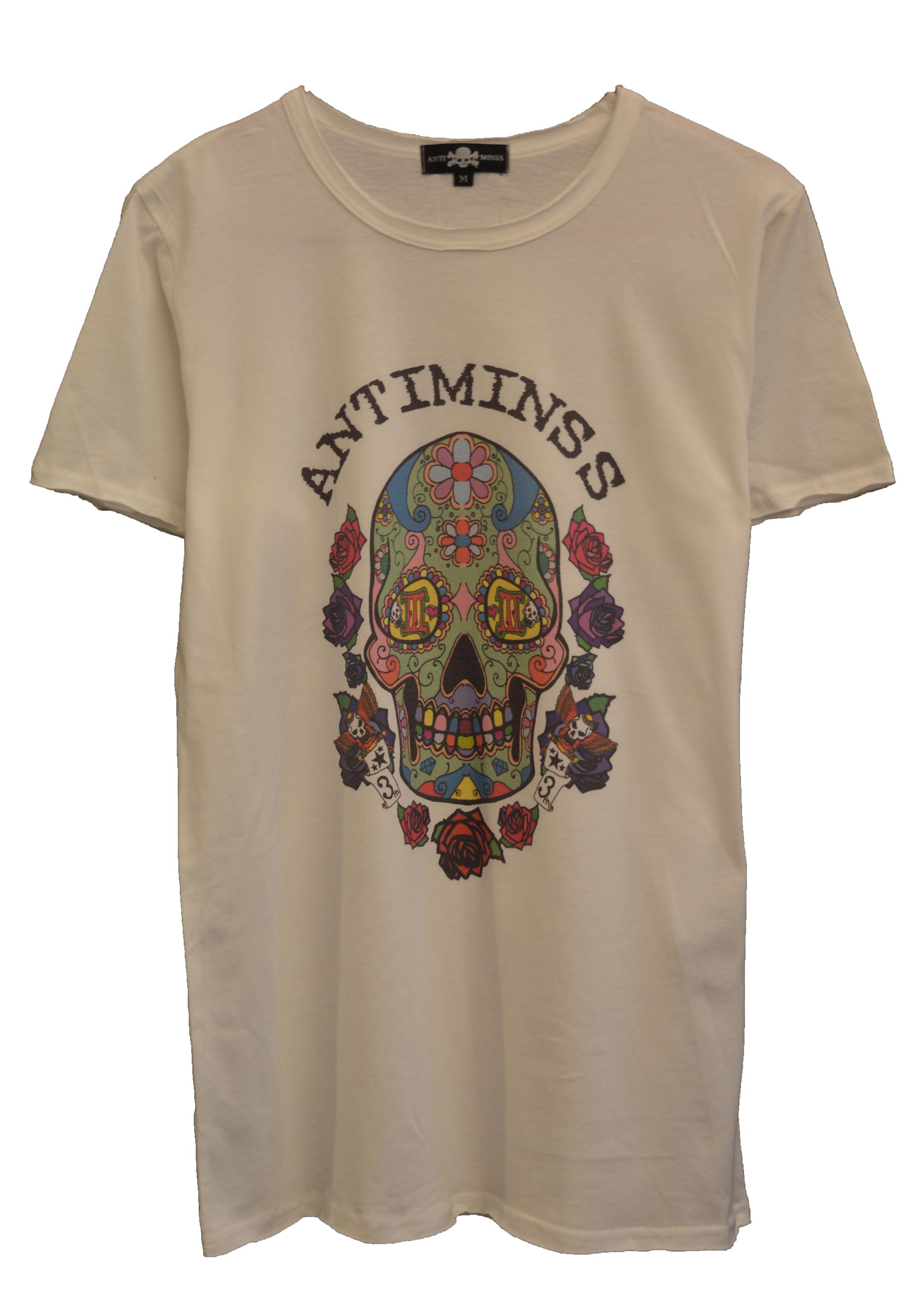 【ANTIMINSS】MEXICAN SKULL T-SHIRT (COLOR)