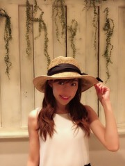 【selva secreta】RIBBON CLASSIC HAT(brown-beige)