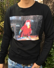 【予約販売】【ANTIMINSS】 AMAZON BIRD SWEAT(black)