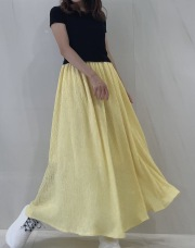 【selva secreta】WAFFLE SKIRT (yellow)