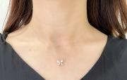 【selva secreta】Butterfly Necklace(pink-gold)