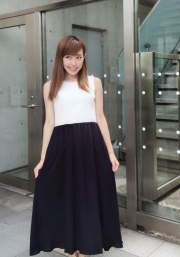 【selva secreta】RIB KNIT DRESS(white)