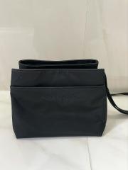 【selva secreta】Shoulder card BAG(black×black logo)