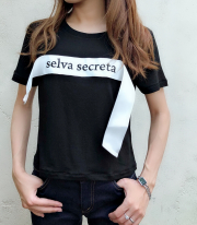 【selva secreta】LOGO Tshirts(black)