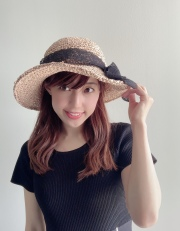 【selva secreta】RIBBON HAT(pink-beige×race ribbon)