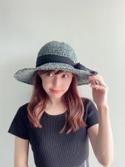 【selva secreta】RIBBON HAT(denim blue×black ribbon)
