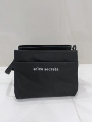 【selva secreta】Shoulder card BAG(black×white logo)
