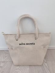 【selva secreta】ROPE LOGO TOTE BAG(white)