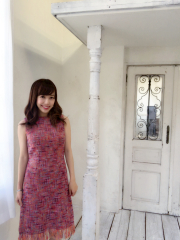 【selva secreta】TWEED FRINGE DRESS(PINK)