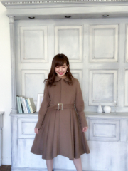 【selva secreta】ALPACA FLARED  COAT(brown)