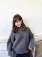 【selva secreta】MOHAIR KNIT(gray)