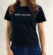 【selva secreta】SIMPLE LOGO Tshirts(black)