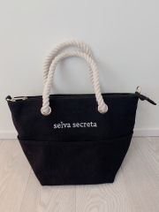 【selva secreta】ROPE LOGO TOTE BAG(black)