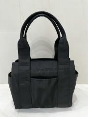 【selva secreta】3-layer TOTE BAG(black×gold-zip)