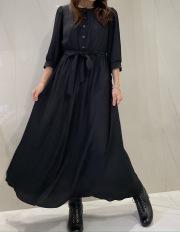 【selva secreta】FRONT BUTTON DRESS(black)