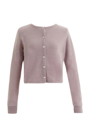 【selva secreta】LADY CARDE(pink-gray)(pearl-button)