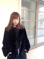 【selva secreta】FAKE FAR COAT(black)
