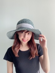 【selva secreta】RIBBON HAT(denim blue×gray ribbon)