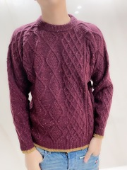 【selva secreta】MEN'S WOOL KNIT(red)