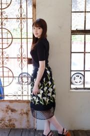【限定発売】【selva secreta】FLOWER SKIRT(black)