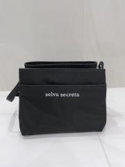 【selva secreta】Shoulder long-wallet BAG(black×white logo)