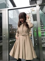 【selva secreta】ALPACA FLARED  COAT(beige)
