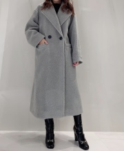 【selva secreta】Teddy bear BOA COAT(gray)