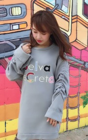 【selva secreta】applique sweat(gray)