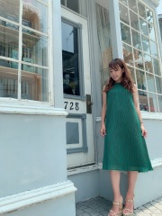 【selva secreta】A line DRESS(green)