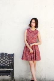 【selva secreta】TWEED DRESS(pink)