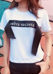 【selva secreta】LOGO Tshirts(white)