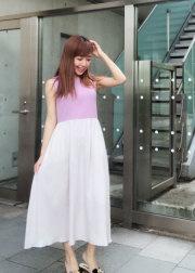 【selva secreta】RIB KNIT DRESS(purple)